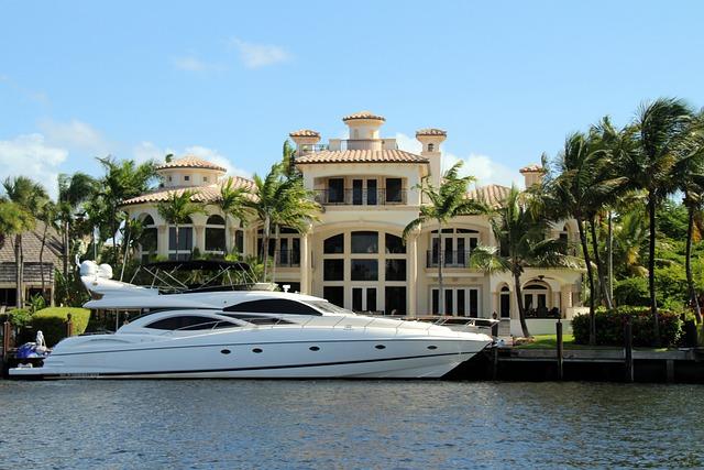 vila a jachta milionáře