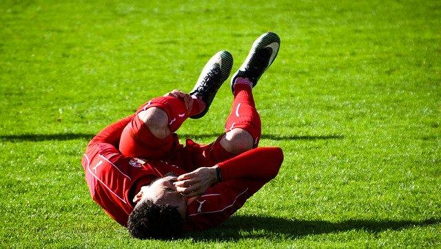 zranění fotbalisty