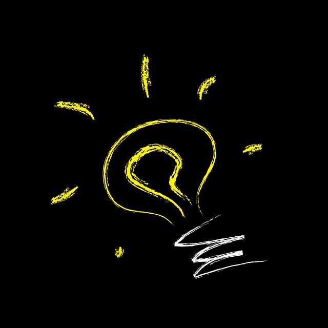 stylizovaný obrázek žárovky